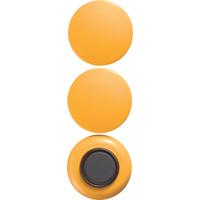 強力カラーマグネット ヨーク付 Φ40 黄 3ヶ入 72071 マグネット 磁石 黒板 掲示 シンワ測定