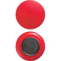 強力カラーマグネット ヨーク付 Φ50 赤 2ヶ入 72072 マグネット 磁石 黒板 掲示