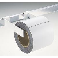 マグシート つやなし 10cm×10m0.8mm厚 白ロール 72215 マグネット 磁石 黒板 ホワイトボード 掲示 店舗 シンワ測定
