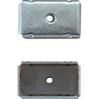 マグチップ ヨーク付 角型 E-1 13×22mm 2ヶ入 73501 マグネット 磁石 黒板 掲示 シンワ測定