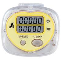 歩数計 ジョイウォーク R 距離表示付 イエロー 74134 ウォーキング ダイエット 運動 体脂肪 シンワ測定