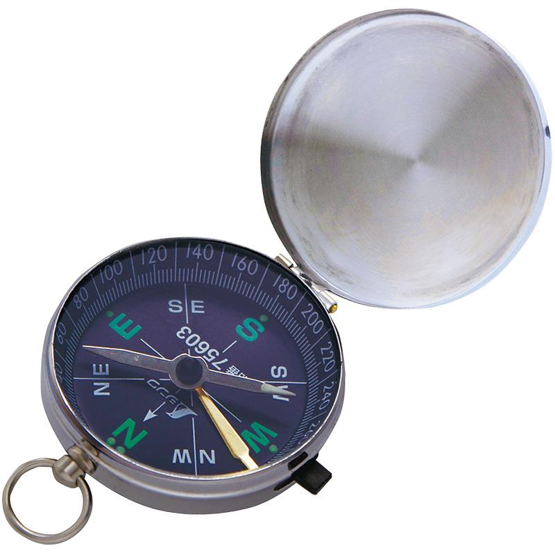 方向コンパス B-2 英文字 メタルケース 75603 シンワ測定 コンパス キャンプ レジャー 登山 方位磁針
