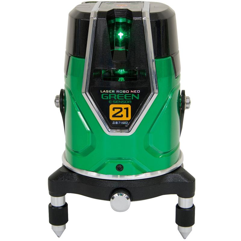 レーザーロボ グリーン Neo ESensor 21 縦・横・地墨 71602 シンワ測定 レーザー 光学機器 建築 土木 測量 測定器 測量用品