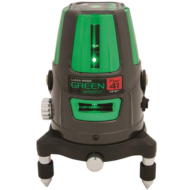 レーザーロボグリーンNeo41BRIGHT縦・横・大矩・通り芯・地墨 78271 シンワ測定 レーザー 光学機器 建築 土木 測量 測定器 測量用品
