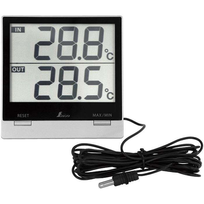 デジタル温度計 Smart C 最高 最低 室内・室外 防水外部センサー 73118 シンワ測定 温度計 デジタル 測定器 計測器