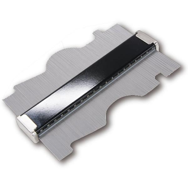 型取りゲージ C 200mm 77984 シンワ測定 ステンレス 針 サビにくい 簡単 型取り カーペット 敷物 角取り 木 金属部 曲線部
