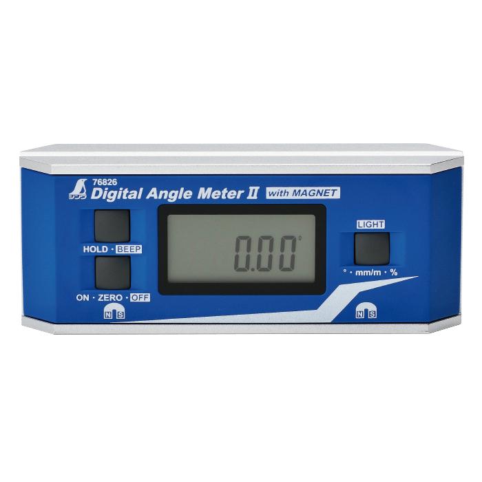デジタルアングルメーター II 防塵防水 マグネット付 レベル 水平器 傾斜 角度 シンワ測定