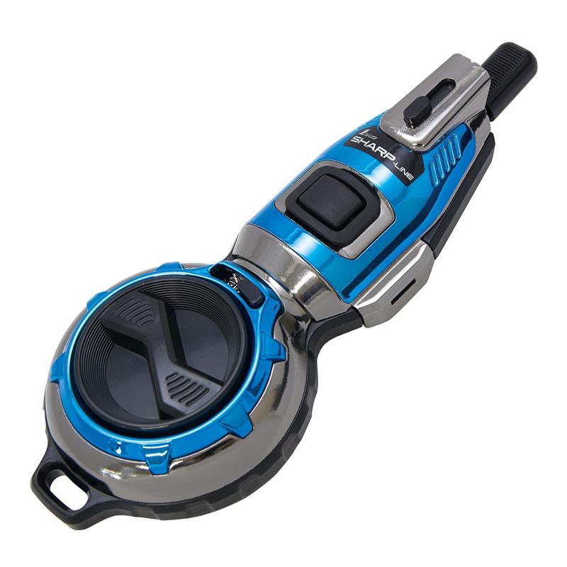 ハンディ墨つぼ Pro Plus 自動巻 シャープライン メタルブルー 73297 シンワ測定 建築 DIY 工具 墨付け 大工
