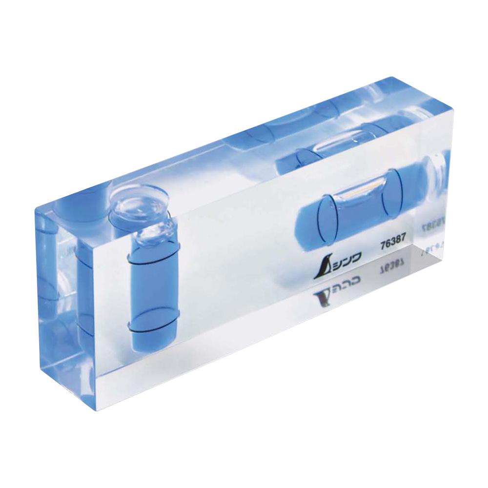ミニレベル Revo クリアキューブ 水平器 水準器 小型 気泡管 角度 おすすめ 工具 DIY シンワ測定