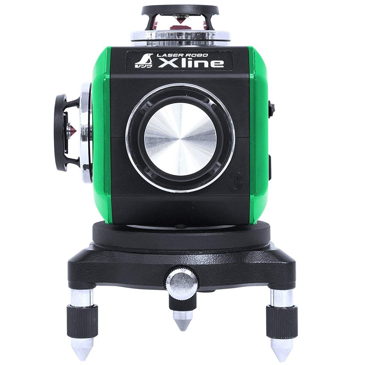 レーザーロボ X line グリーン フルライン・地墨クロス シンワ測定