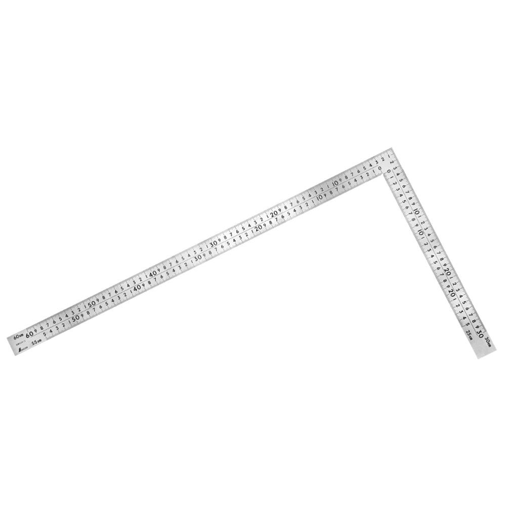 曲尺 30cm 定規 中金 普及型 ステン 60×30cm 表裏同目 8段目盛 シンワ測定 ステンレス