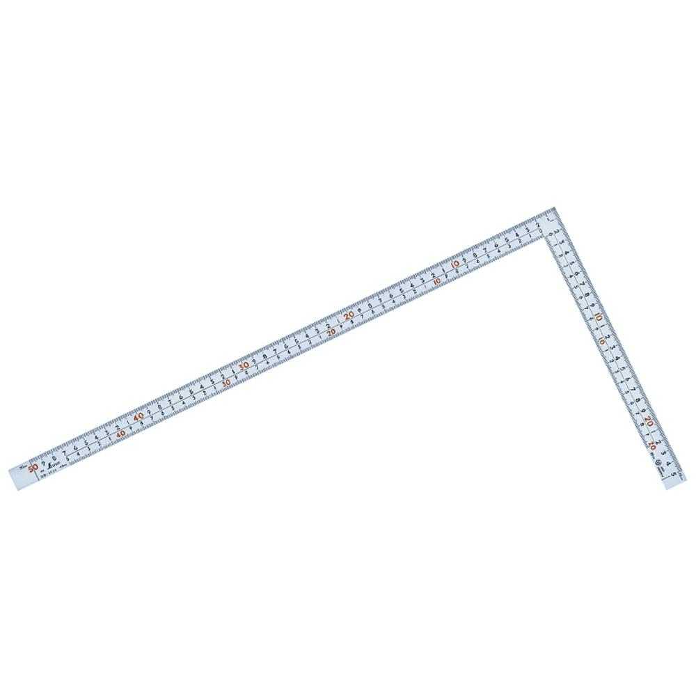 曲尺 定規 広ピタ シルバー 50cm 表裏同目 8段目盛 JIS シンワ測定 ステンレス
