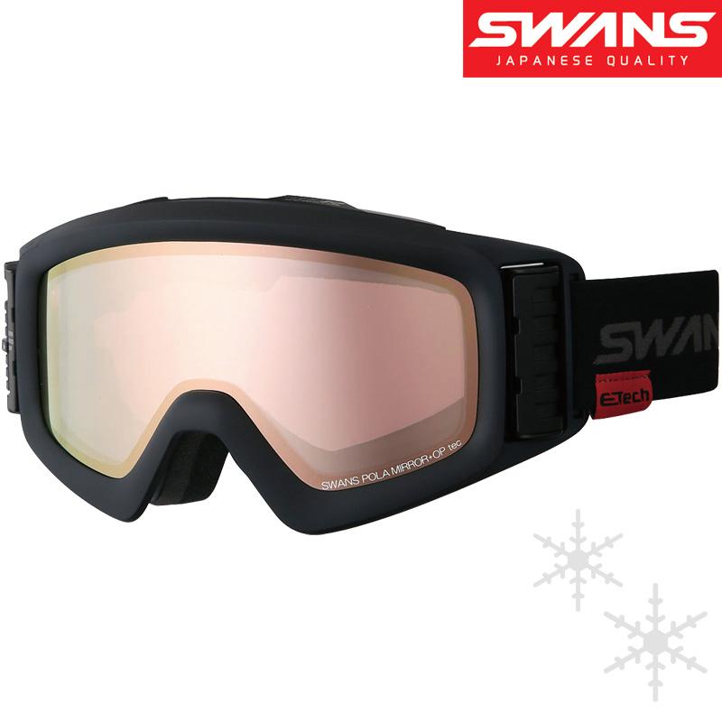 偏光 ゴーグル 眼鏡対応 ダブルレンズ [18-19カタログモデル] ターボファンHELI-MPDTBS-N MBK 電動ファン スキー スノーボード UVカット メガネ対応 曇り止め SWANS UVカット SWANS スワンズ