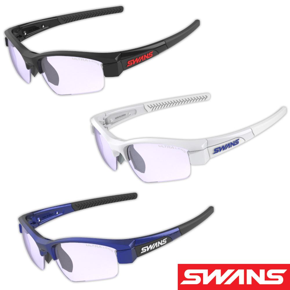 サングラス 両面クラリテックスコートレンズ スポーツ メンズ レディース LION SIN Compact フレーム+L-LI SIN-C-0415 LICBL ウルトラレンズ 撥水加工 おすすめ 人気 SWANS スワンズ