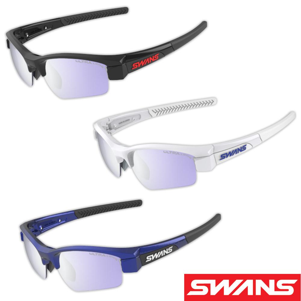 サングラス ミラーレンズ シルバーミラー×ULアイスブルー スポーツ メンズ レディース LION SIN Compact フレーム+L-LI SIN-C-0714 LPRSL ウルトラレンズ おすすめ 人気 SWANS スワンズ