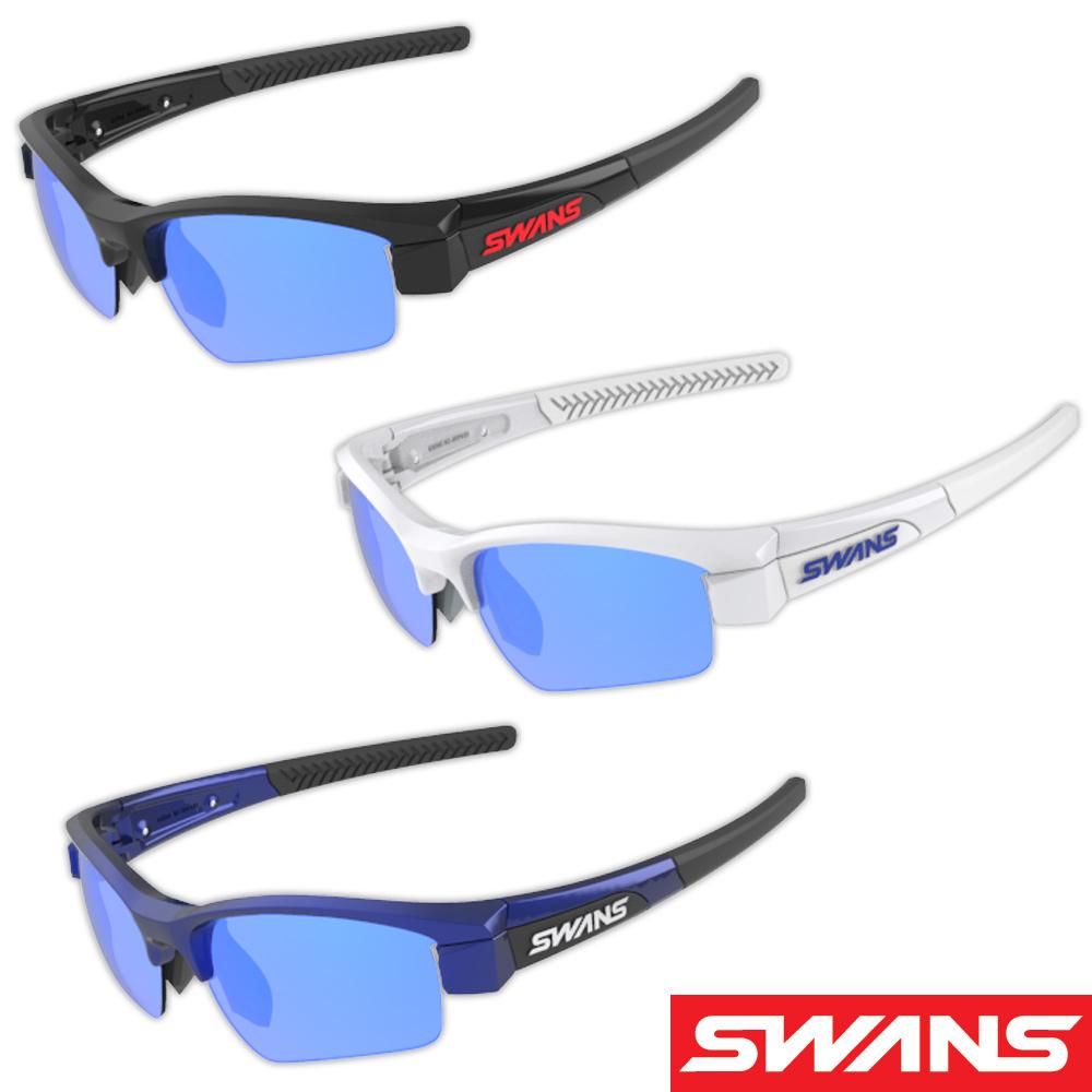 サングラス ミラーレンズ ブルーミラー×スモーク ドライブ ゴルフ スポーツ メンズ レディース LION SIN Compact フレーム+L-LI SIN-C-1101 SMBL おすすめ 人気 SWANS スワンズ
