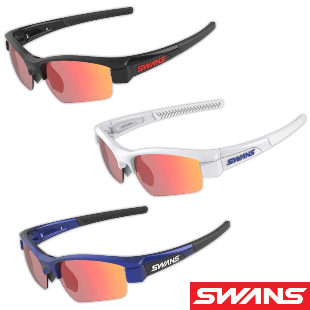 サングラス ミラーレンズ レッドシャドーミラー×スモーク ドライブ ゴルフ スポーツ メンズ レディース LION SIN Compact フレーム+L-LI SIN-C-1701 RSHD おすすめ 人気 SWANS スワンズ