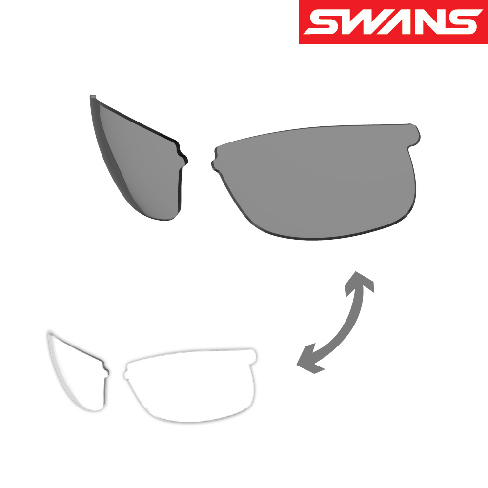 サングラス レディース 運転 ドライブ メンズ SPRINGBOKシリーズ用 スペアレンズ L-SPB-0066 CSK 調光 UVカット 交換レンズ SWANS スワンズ おすすめ 人気