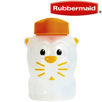 ストローマグ アニマルジュースボックス ライオン らいおん 330ml ラバーメイド 漏れにくい ベビー 赤ちゃん 水筒 キッズ キッチン雑貨 ストロー付きボトル 飲み方 練習