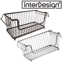 インターデザイン オープンバスケット 63171-2 63176-7  インターデザイン 収納 ラック かご カゴ オープンバスケット