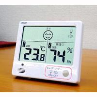 デジタル温湿度計 熱中症・インフルエンザ警報付き 白 温度計 予防 対策グッズ おすすめ 警告計
