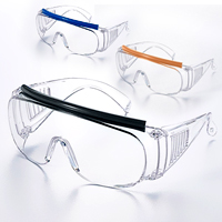 保護めがね オーバーグラス 2200 PCF 3種類のカラーヘッドクッション