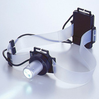 LEDヘッドライト シリコンバンド付 高輝度白色LED1灯 防災グッズ 消防 救急 個人