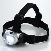 LEDヘッドライト 防災 黒布バンド付 8灯白色LED 3段階点灯タイプ 地震対策 災害 震災 登山 釣り アウトドア