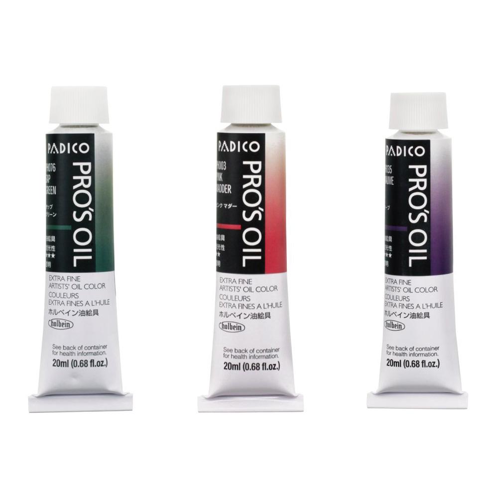 プロスオイルカラー 3色 パジコ padico 水性アクリル 絵の具 油絵 絵具 えのぐ 水性塗料 画材 クラフト