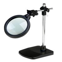 虫眼鏡 超大口径 スタンドルーペ 高さ調節機能付き 倍率2倍 ルーペ スタンド 卓上 拡大鏡 スタンド ルーペ