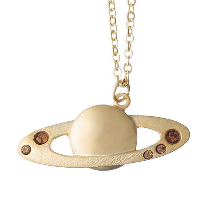 アクセサリー 宙ジュエリー 土星 ネックレス ペンダント レディース おしゃれ かわいい 宙ガール 惑星 天体 VIXEN ビクセン