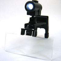 虫眼鏡 LEDライト付き 双眼メガネルーペ クリップタイプ レンズ3種セット クリアルーペ ネイル まつ毛エクステ ヘッドルーペより気軽です
