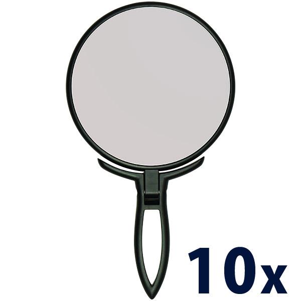 スタンド & ハンドミラー 10倍 鏡 手鏡 拡大鏡 拡大ミラー スタンドミラー