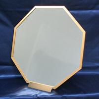 八角アルミミラー [鏡] [L] 台付き ゴールド [風水鏡] 開運!八角形の鏡は勝負に勝つパワーを持つすぐれもの!