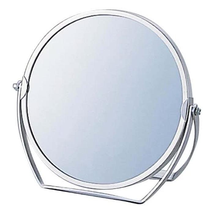 卓上ミラー 拡大鏡 メイク スタンドミラー 卓上 ヤマムラ [鏡] 3倍拡大鏡 メイク [拡大ミラー] 付き 丸型 老眼