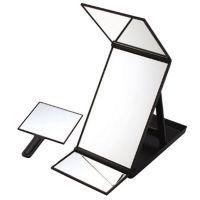 三面鏡 ヘアカラーミラー 毛染め用鏡 一人でも染められて便利 ヘアチェック ミラー