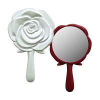 ミニハンドミラー [鏡] ロマンチックローズ 手鏡 乙女系 可愛いバラの形