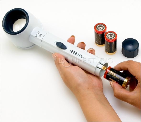 ライトルーペ電池交換
