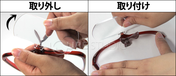 レンズの着脱方法