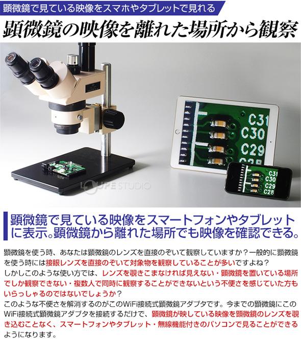 顕微鏡の映像を離れた場所から観察