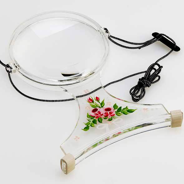手芸用ルーペ 両手が自由に使える拡大鏡 6500-PP