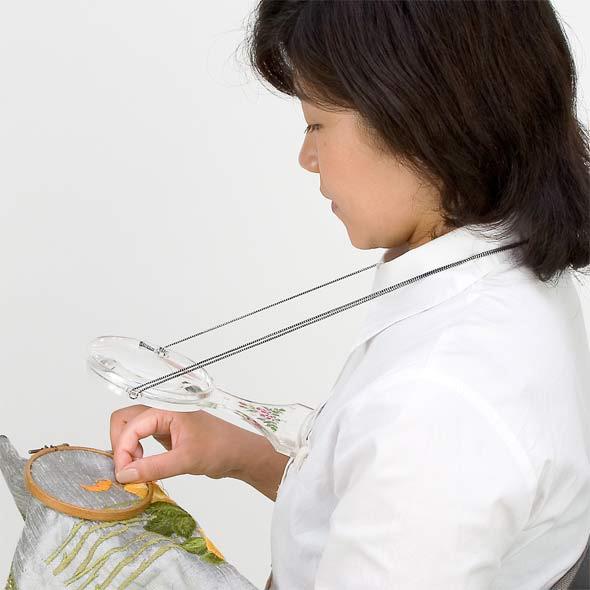 手芸用ルーペ使用例
