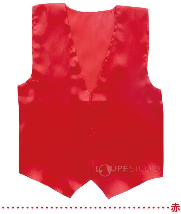 衣装ベース サテンベスト L 赤