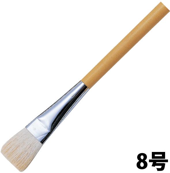 平筆(ポスター用・白毛)8号