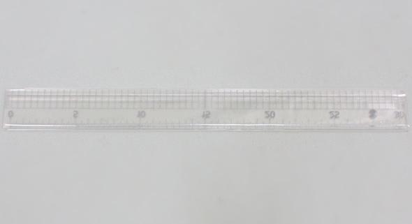 ターナー アクリル製溝付定規 30cm