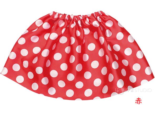 水玉スカート 赤
