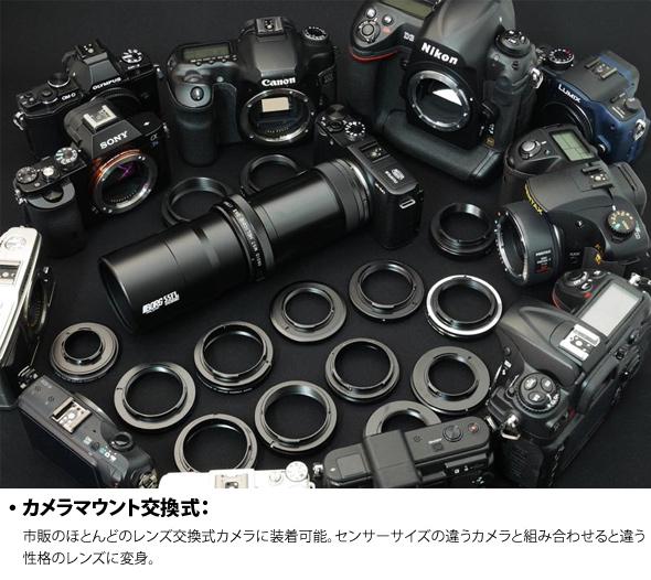 カメラマウント交換式
