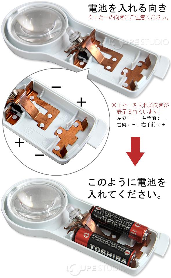 電池を入れる向き