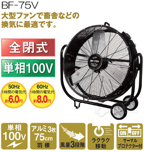 75cmビッグファン「全閉式 単相100V」BF-75V