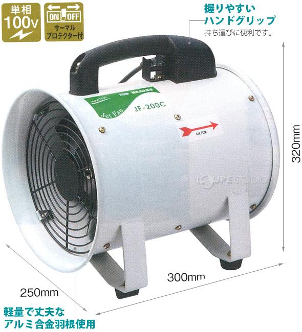 200mm軸流送風機 JF-200C [全閉式]